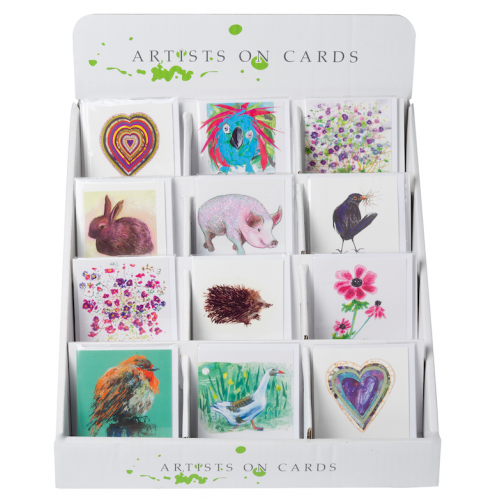 Artists on Cards Counter display box.